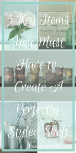 5 Key Items You Need to Create a Perfectly Styled Shelf. What makes a shelf have that interior decorator feel, do you ever wonder why some shelves really make you stop and take a look while others are basically flying under the radar? Follow this list with the 5 key items your shelf must have for a perfectly styled look.