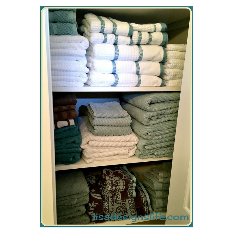 3 Easy Steps to Organize Your Linen Closet and keep it organized for good. Click to read the the steps and a bonus tip for longer lasting towels.