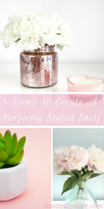 5 Key Items to create your perfectly styled shelf. What makes a shelf have that interior decorator feel, do you ever wonder why some shelves really make you stop and take a look while others are basically flying under the radar? Follow this list with the 5 key items your shelf must have for a perfectly styled look.