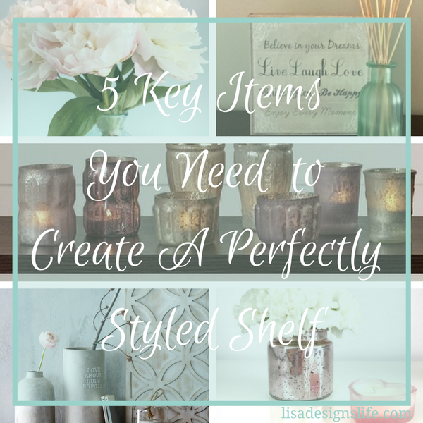 5 Key Items You Need to Create your Perfectly Styled Shelf, what makes a shelf have that interior decorator feel, do you ever wonder why some shelves really make you stop and take a look while others are basically flying under the radar? Follow this list with the 5 key items your shelf must have for a perfectly styled look.