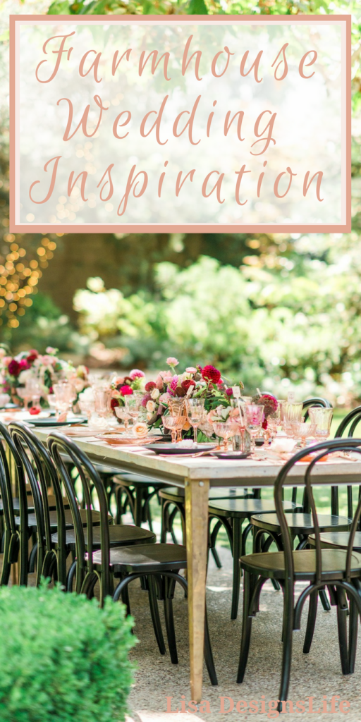 Farm House Wedding Inspiration. I have been drooling over the event rentals, and decor available on this rental website. The selection of furniture and accessories includes: lanterns, candle holders, place settings, lighting, chairs, tables, and even walkways. The furniture and home decor pieces are stunning. Check out my event plan on the blog to see how to create the perfect farm house wedding.