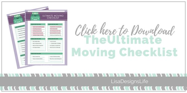 "Grab your Free Ultimate Moving Checklist. Planning a move?  Whether you are packing up to go across town or across the country, being organized is the only way to keep your sanity during a move! I've created a super detailed ""Ultimate Moving Checklist"". Even if you are just moving across the street, this list will help you think of every little last teeny detail so you can get excited about your new place! Click the image to get your list!"" #moving #organizing #freeprintable #checklist"