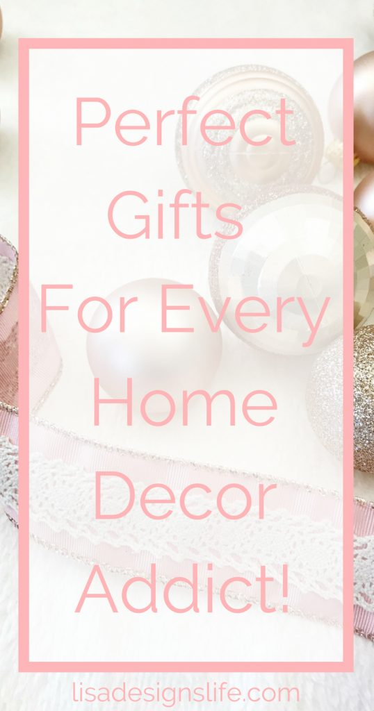 Find the perfect gift for the Home Decor/DIY addict in your life. A fabulous list of personalized gifts for your special someone who loves to decorate and DIY. Bring a smile to their face this Christmas with your thoughtfulness. Click to read more and see which personalized gift items made the list. #homedecorating #decor #gifts #homedecor #DIY #craft #giftbasket #interiordesign