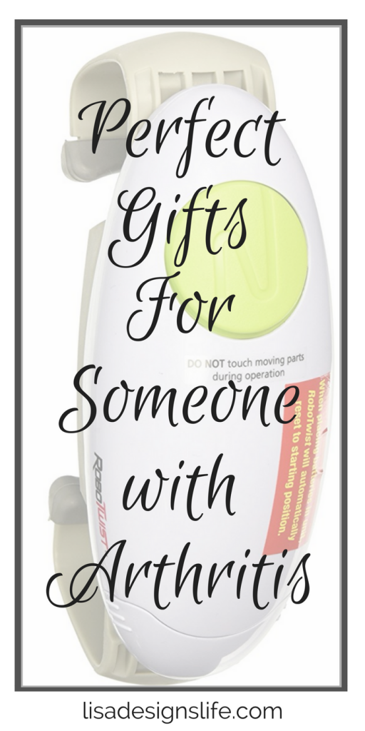 Today I am sharing some wonderful gifts ideas that are comforting and useful in relieving the inflammation, aggravation, and pain of arthritis symptoms.  Any of these items would be very much appreciated by that special person in your life who is affected by arthritis. Click to see my list and give a gift that improves the overall quality of someone's life, guarenteed to remind that special someone of your thoughtfulness for years to come.