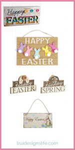 Spring has sprung and it's time to decorate your home for Easter. Inexpensive wooden and metal signs are a great way to decorate. Click the image to browse these products