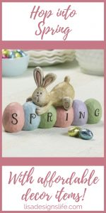 Spring has sprung and it's time to decorate your home for Easter. Click the image to view this spring bunny table topper, take a few minutes to check out spring flowers, and more to decorate your home.