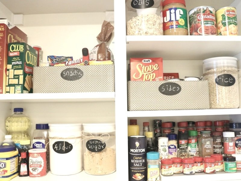 Large or small, whatever size your pantry is, we have the four steps to help you set a game plan, organize your pantry, and give it some personal flair. Click to read more on Lisa Designs Life. #pantry #organize #organizing #kitchen #organization #smallpantry
