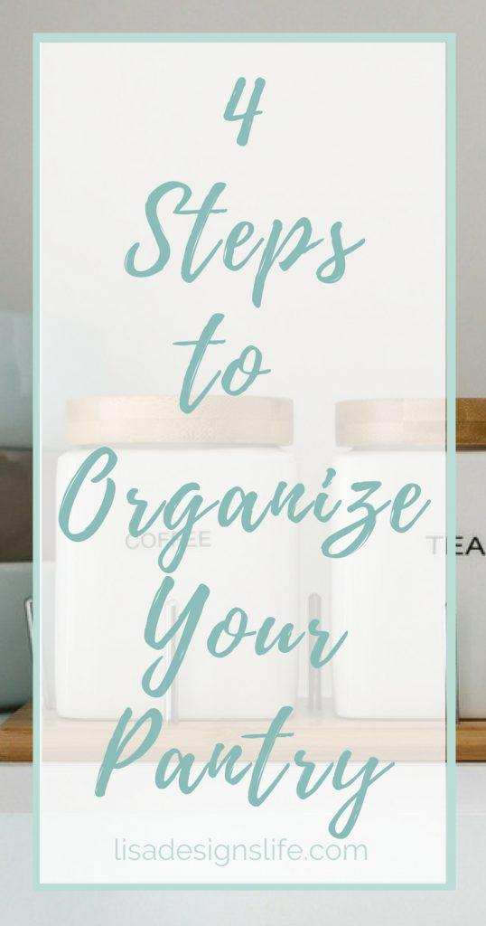 Whether your pantry is large or small, we have the four steps to help you set a game plan, organize your pantry, and give it some personal flair. Click to read how! #organize #pantry #organization #smallpantry